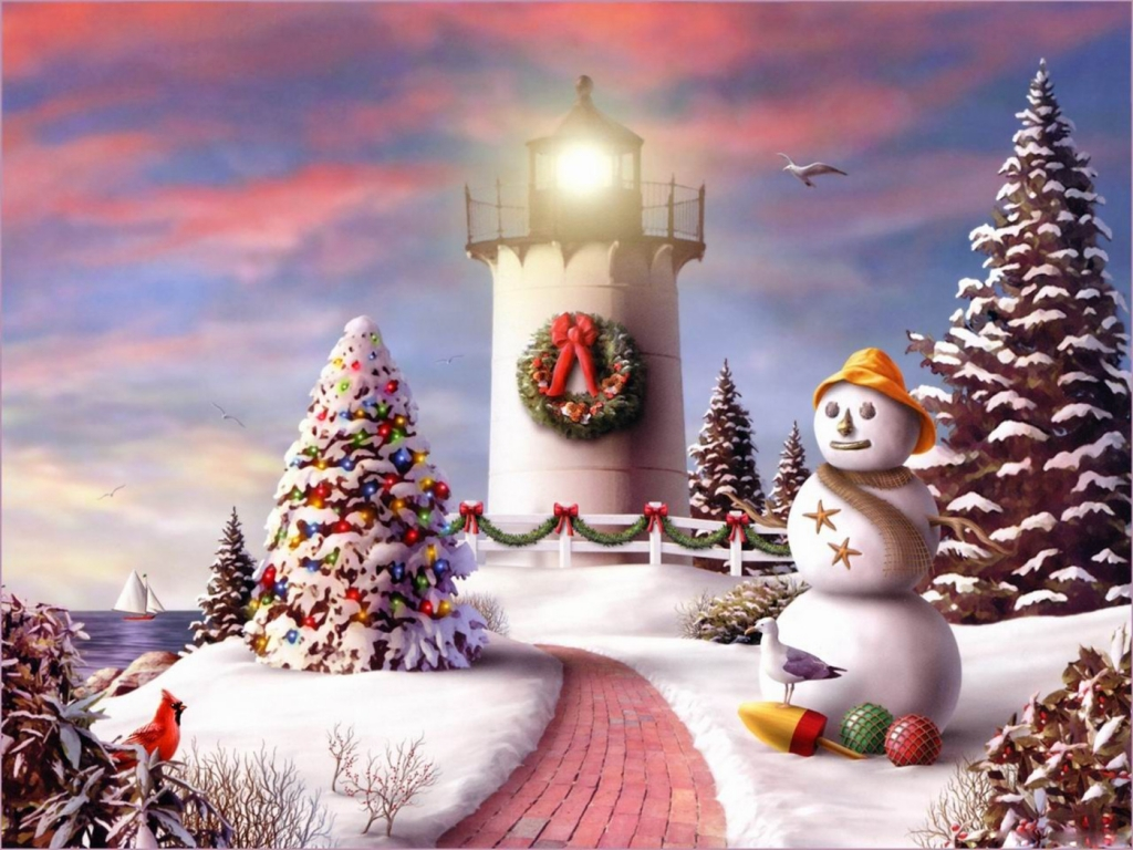 Christmas-Lighthouse-For-Downloads