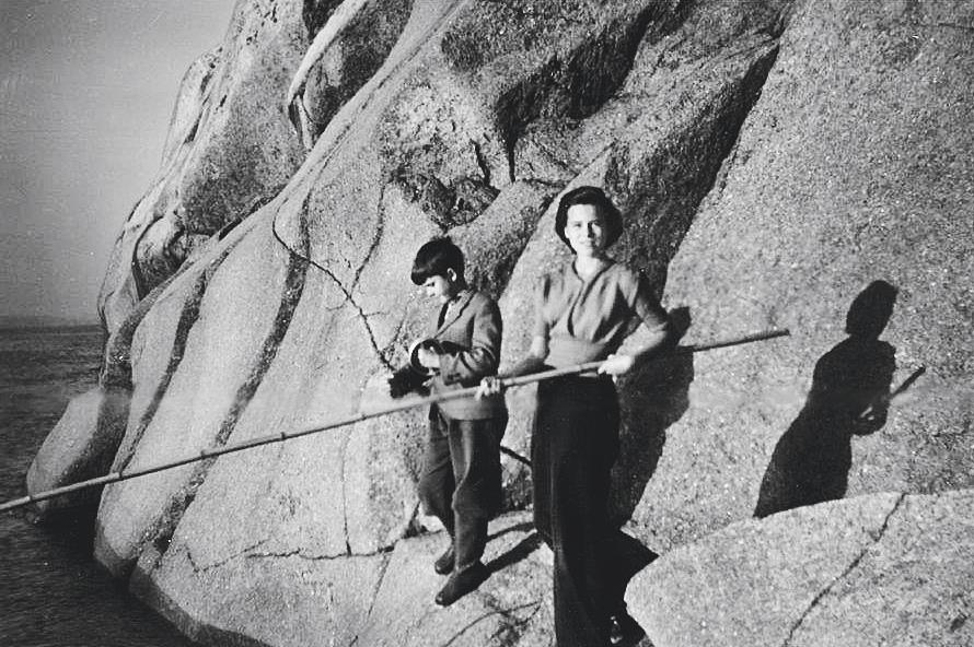 Olav og Sonja fisker